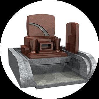 福島県いわき市の洋型墓石セット